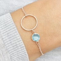 Circle Of Life Personalised Birthstone Bracelet