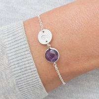 Elyse Semi Precious Birthstone And Disc Bracelet