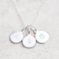 Hand Stamped Silver Charm Personalised Necklace