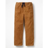 Cord Pull-on Trousers Brown Boys Boden, Brown