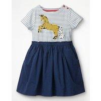 Sequin Colour-change Dress Blue Girls Boden, Blue