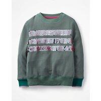 Colour-change Sweatshirt Green Girls Boden, Green