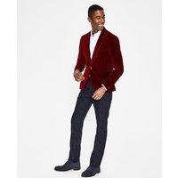 Rivington Velvet Jacket Red Men Boden, Red
