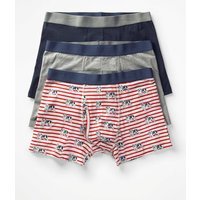 3 Pack Jersey Boxers Grey Men Boden, Multicouloured