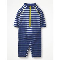Animal Surf Suit Navy Boys Boden, Ivory