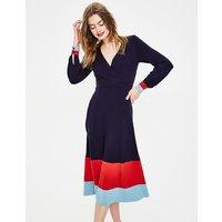 Magnolia Jersey Midi Dress Navy Women Boden, Navy
