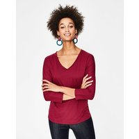 Supersoft Relaxed Voop Tee Purple Women Boden, Navy
