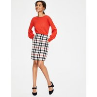 British Tweed Mini Skirt Pink Women Boden, Red