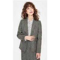 Bath British Tweed Blazer Green Women Boden, Green