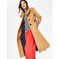 Farleigh Coat Brown Women Boden, Camel