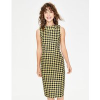 Seam Detail Martha Dress English Mustard Spotty Trellis Women Boden, English Mustard Spotty Trellis