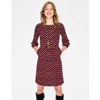 Odelia Jersey Dress Red Women Boden, Burgundy