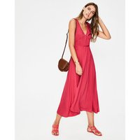 Elina Jersey Midi Dress Red Women Boden, Red