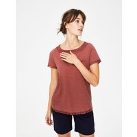 Thelma Jersey T-shirt Red Women Boden, Red