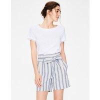 St Ives Paperbag Shorts Cobalt Stripe Women Boden, Cobalt Stripe