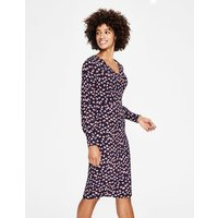 Hannah Dress Navy Women Boden, Brown