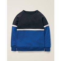 Sporty Sweatshirt Blue Boys Boden, Blue
