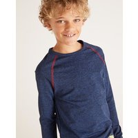 Long Sleeve Active T-shirt Blue Boys Boden, Blue