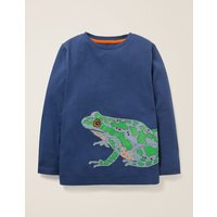 Awesome Animal T-shirt Blue Boys Boden, Blue