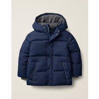 Shower Resistant Padded Jacket Blue Boys Boden, Blue