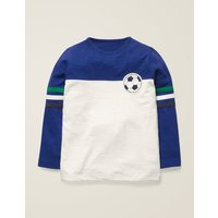 Football T-shirt Blue Boys Boden, Blue