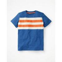 Slub Washed T-shirt Blue Boys Boden, Orange