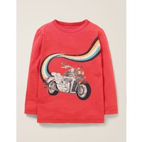 Metallic Fast Vehicle T-shirt Red Boys Boden, Red