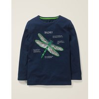 Insect Facts T-shirt Blue Boys Boden, Navy