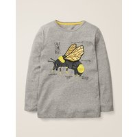 Insect Facts T-shirt Grey Boys Boden, Grey