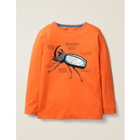Insect Facts T-shirt Orange Boys Boden, Orange