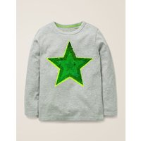 Sequin Colour Change T-shirt Grey Boys Boden, Grey