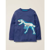 Glow-in-the-dark Bones T-shirt Blue Boys Boden, Blue