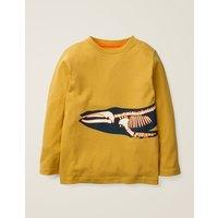 Glow-in-the-dark Bones T-shirt Yellow Boys Boden, yellow