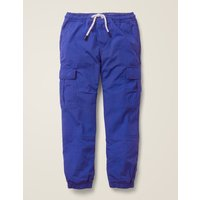 Lined Utility Cargo Trousers Blue Boys Boden, Blue