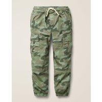 Lined Utility Cargo Trousers Green Boys Boden, Khaki