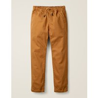 Relaxed Slim Pull-on Trousers Brown Boys Boden, Brown
