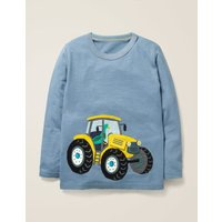 Novelty Vehicle T-shirt Blue Boys Boden, Blue