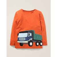 Novelty Vehicle T-shirt Orange Boys Boden, Orange