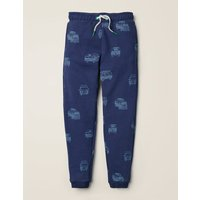 Relaxed Printed Joggers Navy Boys Boden, Blue