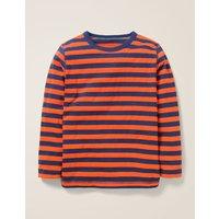Essential Supersoft T-shirt Orange Boys Boden, Blue