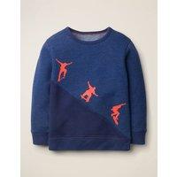 Skater Sweatshirt Blue Boys Boden, Blue