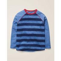 Raglan T-shirt Blue Boys Boden, Blue
