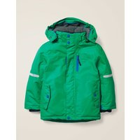 All-Weather Waterproof Jacket Green Boys Boden, Green