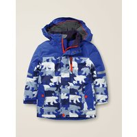 All-Weather Waterproof Jacket Blue Boys Boden, Blue