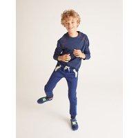 Active Sweatpants Navy Boys Boden, Blue