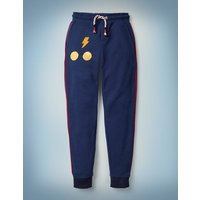 Transfiguration Sequin Joggers Blue Boys Boden, Blue