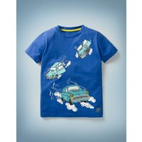 Magical Transport T-shirt Blue Boys Boden, Blue
