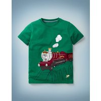Magical Transport T-shirt Green Boys Boden, Green