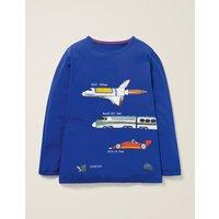 Speedy T-shirt Blue Boys Boden, Blue
