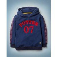 Potter Hoodie Navy Boys Boden, Blue